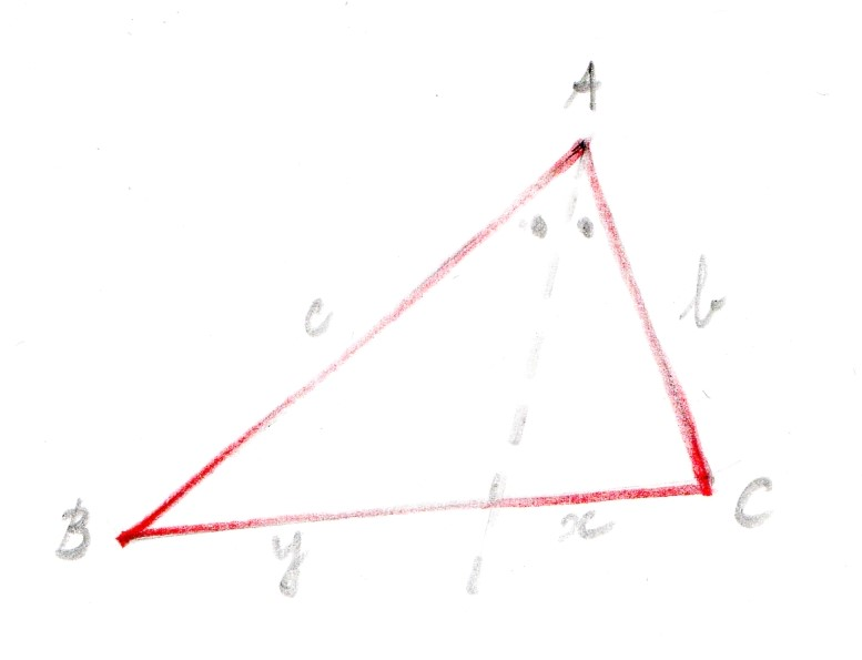 Bisecting triangle ABC