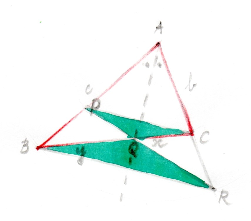 Constructing congruent triangles