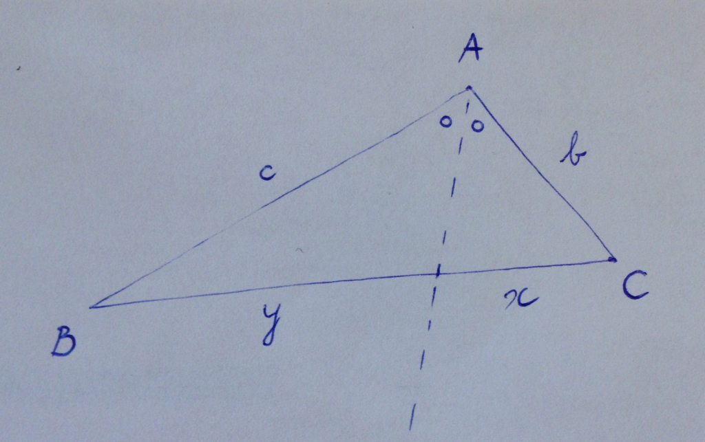 Example checking the angle bisector theorem