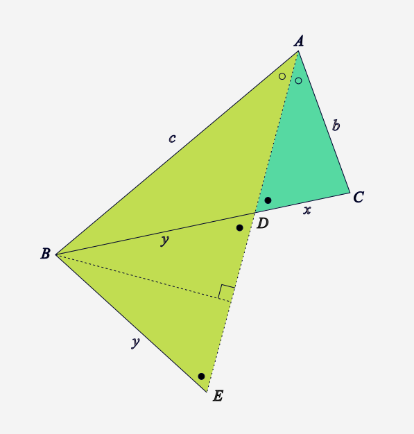 Construction congruent triangles